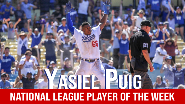 Yasiel Puig Player of the Week